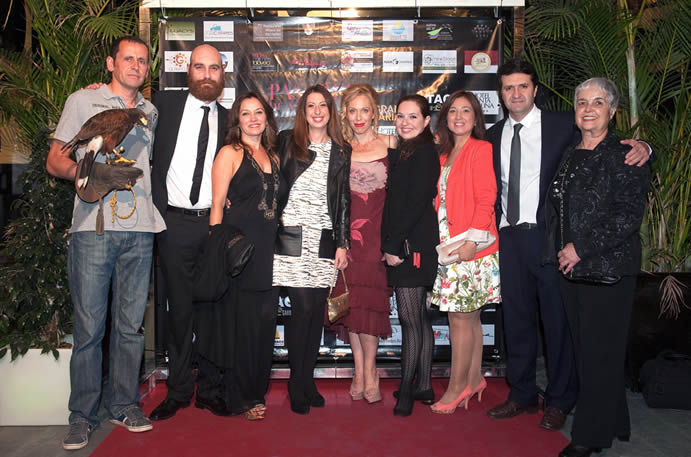 De izquierda a derecha, Braulio, Francisco Vazquez, Invitada, Mónica Sanchez, Mónica Armas, Duli Ramos, Domingo Doreste, Carmen Talavera.